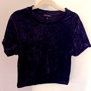 Cotton Candy L.A. Short Sleeve Black Velvet Tee
